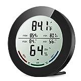 [Father's Day] ORIA Termometro Interno, Igrometro Termometro Digital, Monitor Temperatura e Umidità con Indicatori di Comfort, Min/Max, ℃/℉ e Tendenza Del Cambiamento di Temperatura per Magazzino