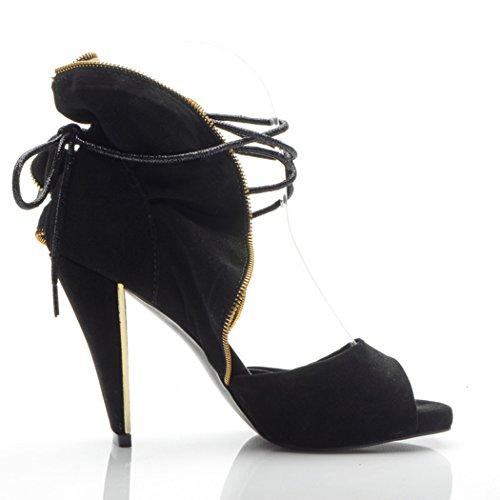Minitoo , Bride de cheville femme Noir - noir