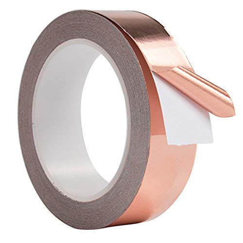 Lakote 30mm*4m Conductive Slug Tapes with Single Adhesive Copper Foil Tape  EMI Repellent Shield Strip for Guitar