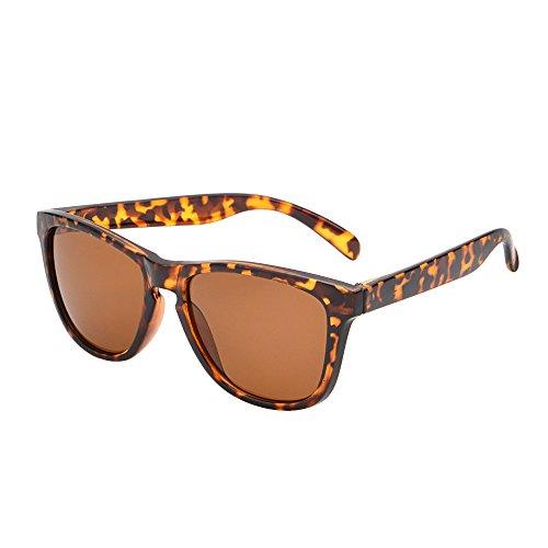JM Leicht Original Sonnenbrille Dame Herre UV400 Leopard Rahmen