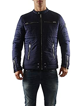 Diesel–Chaquetas–Hombres–Negro Motero nunca con cremallera chaqueta acolchada para niña para hombre