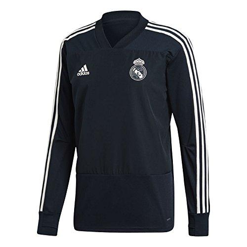adidas Herren Real Training Langarm Sweatshirt, Tech Onix/Black/Core White, L