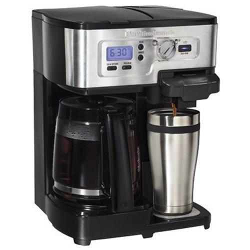 Hamilton Beach 49983 - Cafetera (Independiente, Negro, Acero inoxidable, Acero inoxidable, Granos de café, De café molido, Semi-auto, Café)
