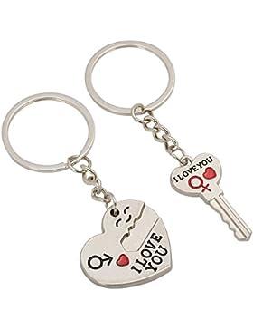 TRIXES Love Schlüsselanhänger Valentinstag Geschenk für Valentine Schlüssel Ring romantische