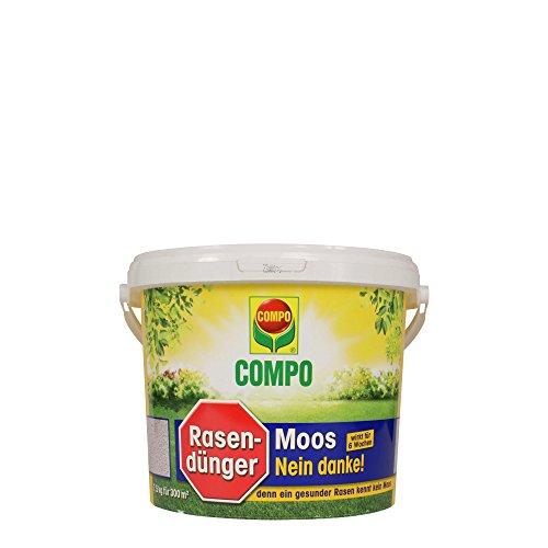 COMPO Rasendünger Moos -nein Danke! mit 6 Wochen Wirkung, Feingranulat, 7,5 kg, 300 m²