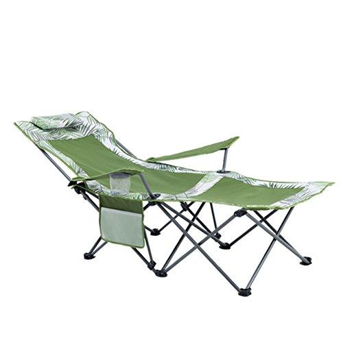 HM&DX Portable Chaises pliantes exterieures Chaise de camping avec repose pieds Porte-gobelet Dossier réglable Heavy duty Jardin camping pêche randonnée picnic-C