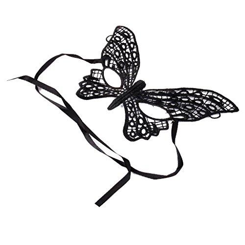 Gazechimp Schwarz Schmetterling Venetianische Maskerade Damen Augenmaske Maske (Schwarzer Schmetterling Kostüme)