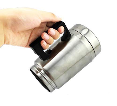 Wasserkocher Becher, 12V Auto Heizung Cup Auto, vakuumisolierte Auto Wasserkocher Heizung Edelstahl Auto Zigarettenanzünder Heizung Cup Kaffeetasse, 500ml