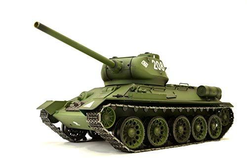 RC Panzer Russischer T-34/85 1:16 Heng Long -Rauch&Sound + Metallgetriebe und 2,4Ghz (Heng Panzer Rc Long)