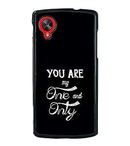 Love Quote 2D Hard Polycarbonate Designer Back Case Cover for LG Nexus 5 :: LG Google Nexus 5