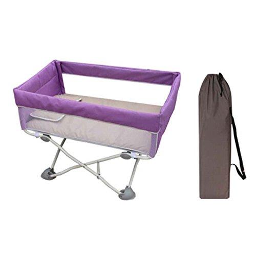 CL-* Mini Krippe zusammenklappbar multifunktionale Babybett tragbare Kinderbett Neugeborenen abnehmbare Kinderbett Net Reisebett Last 15 kg Kinderzaun (Farbe : B) -