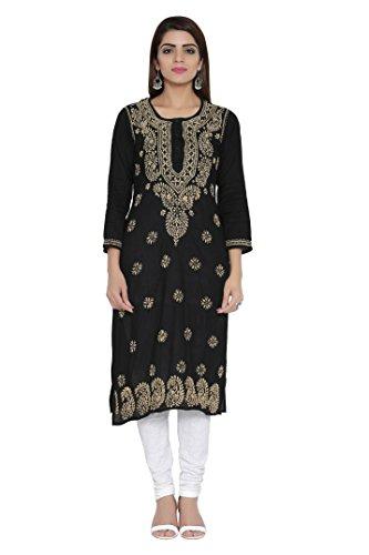 ADA Hand Embroidered Lucknow Chikan Womens Cotton Kurta Kurti A207632