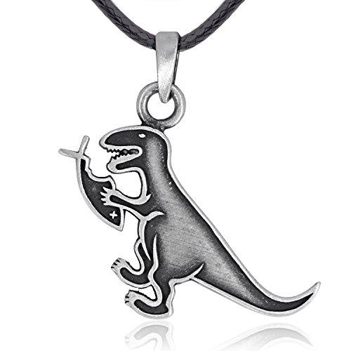 Llords Schmuck | Christian Fisch Dinosaurier Anhänger Halskette, -
