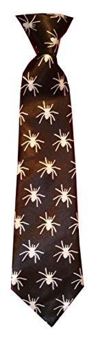 Kinderkrawatte Tiere Leopard Spinne Zebra Krawatte Kinder Jungen Gummiband gebunden dehnbar Konfirmation (Schwarz Weiß Spinne)