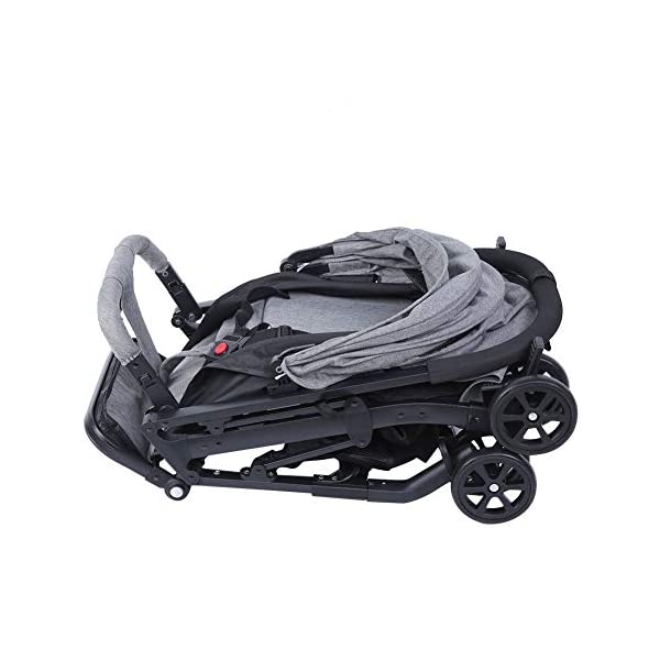 lyrlody Baby Stroller,Lightweight Twin Pushchair Detachable Double Stroller Multifunction Folding Anti-Shock Pram with Baby Cup Holder for Babies Toddlers Children Kids Grey lyrlody LIGHTWEIGHT DESIGN:2 in 1 design, can be detached and used separately.Shock resistant design can effectively prevent external shock and keep your baby's brain Durable:Made of aluminum alloy material, very sturdy.With the baby cup holder, it is convenient for your baby to drink water Very Convenient:Large capacity, can hold more items for children, such as diapers, clothes and bottles 4