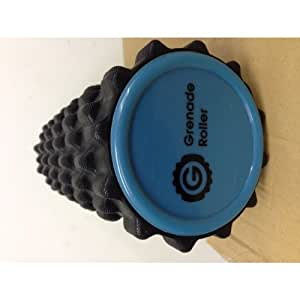 Grenade Foam Roller Black with 3 Spiky Massage Balls