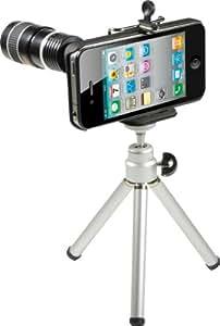 Rollei iTele 8x Teleobjektiv für iPhone 4G (1 Teleskop-Objektiv, 1 Mini Stativ, 1x iPhone 4G Hard Case, Halterung, Reinigunstuch und Bedienungsanleitung in 16 Sprachen)