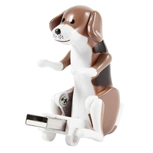 Elektronisches Jump Hund Spielzeug, Sansee Lustige Nette USB-Haustier-Humping-Punkt-Hundespielzeug Entlastungs Druck Als Weihnachtsgeschenk (#1232, Braun)