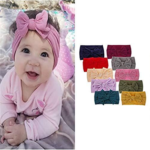 WQW Baby Stirnbänder Turban geknotet, Mädchen Haarbänder für Neugeborene, Kleinkinder und Kinder -