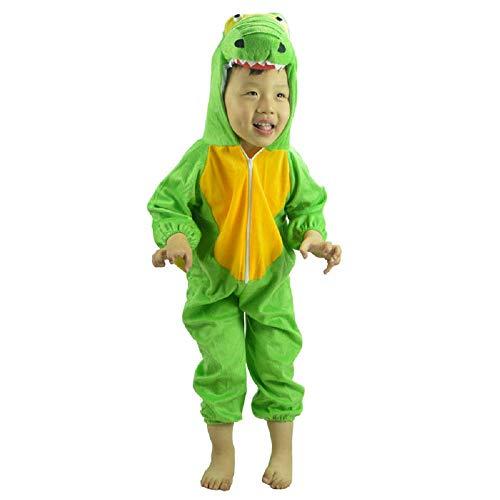 XXL) Dinosaurier Kostüm - 8 - 9 Jahre - Karnevalskostüm - Halloween - Mädchen-Kind - Unisex - Cosplay ()