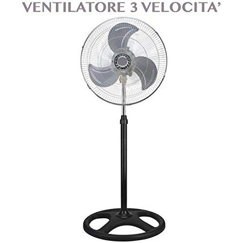 Ventilador Industrial de pie con 3Velocita 'Diamentro 50W 45cm