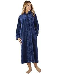 Slenderella HC2331 Women s Waffle Flannel Robe Loungewear Bath Dressing Gown 4ca16128d