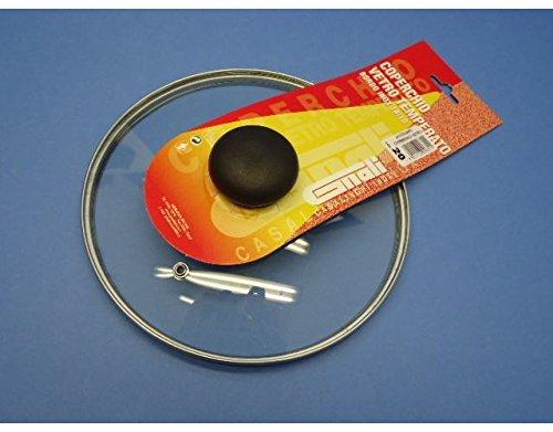 Coperchio in vetro temperato con pomolo per pentole casseruole con diam 20 cm