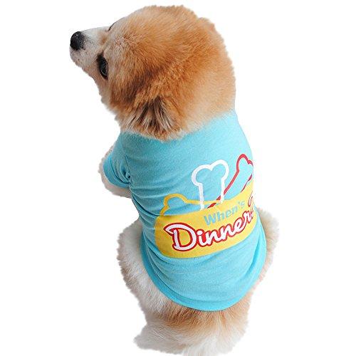 EUZeo Lovely Haustier Hund Katze Baumwollsommerhemd Kleiner Hundekatze-Haustier Kleidungs Weste T-Shirt Hundeshirts Haustierpullover Cute Hündchen Haustier Hund Katze Pet Kleidung