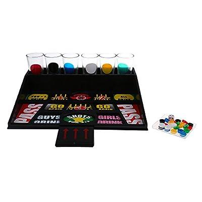 Sharplace 1 Set Classique Jeux à Boire avec 6 Verres Egayer l'Atmosphère pour Fêtes, Soirées, Bar , Jeu de Table