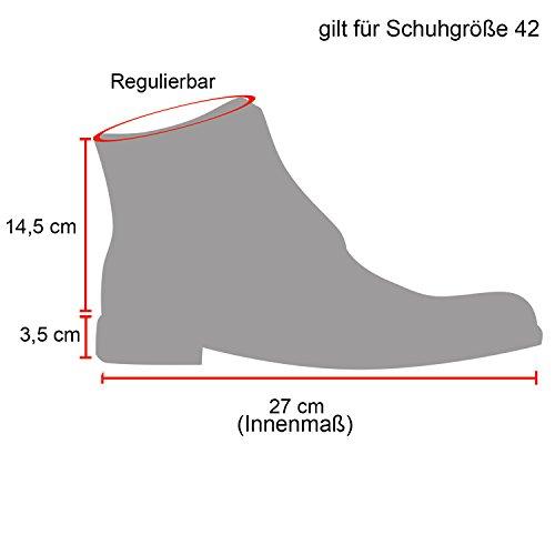 Stiefelparadies Herren Worker Boots Outdoor Schuhe Warm Gefüttert Profil Sohle Flandell Schwarz Brito