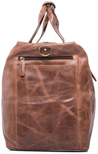 LEABAGS Sydney Reisetasche aus echtem Büffel-Leder im Vintage Look - SugarCane CrazyVinkat