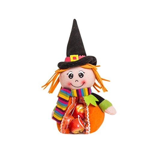 Xmansky Halloween Party Hexen Geister Fledermäuse Kürbisse Süßigkeiten Lagerung Tasche Geschenk (B)