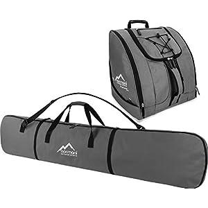 normani Ski-Set bestehend aus Snowboardtasche Alpine Run 166″ und passende Zubehörtasche Plateau DEPO für Helm, Schuhe, Handschuhe und weiteres Equipment
