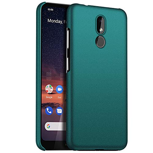 1SourceTek Compatibile per Nokia 3.2 Custodia [Ultra Sottile & Serie Colorato & Anti-graffio] - Antiscivolo Case per Premium Material Slim Full Protection Cover for Nokia 3.2 (Ghiaia Verde)