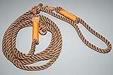 Hundeleine Tau 250cm Braun/Orange/Rosegold