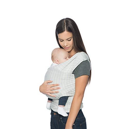 Ergobaby Fular Portabebes Elastico Recién Nacidos, Aura Wrap Rayas Grises