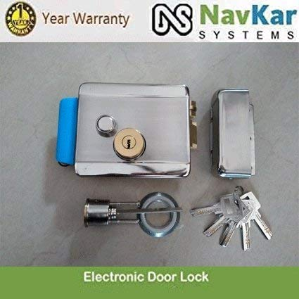 NAVKAR SYSTEMS Electronic Door Lock with Biometric RFID Password Access Control Support