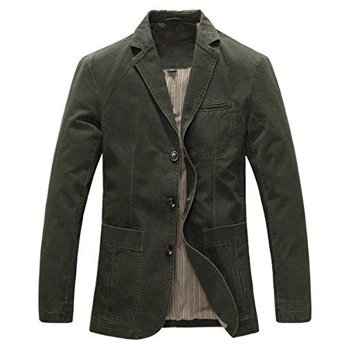 3 Tasche Blazer (Allthemen Herren Sakko Blazer Sportlich Anzugjacke Used Look)