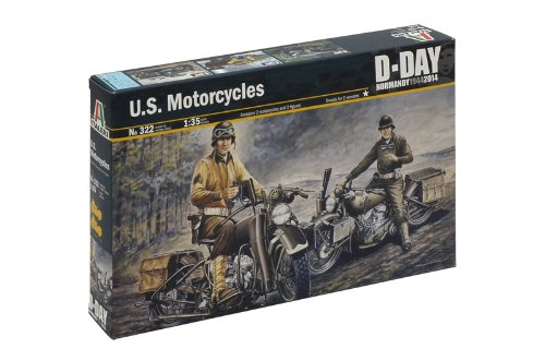 Italeri 510000322 - 1:35 U.S. Motorräder WWII