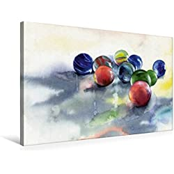 Calvendo Premium Textil-Leinwand 75 cm x 50 cm Quer, Murmeln   Wandbild, Bild auf Keilrahmen, Fertigbild auf Echter Leinwand, Leinwanddruck Kunst Kunst