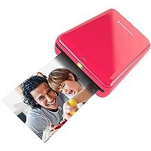 Polaroid ZIP Mobile Printer - Imprimante équipée de la technologie d'impression sans encre ZINK - Compatible avec les appareils iOS & Android - ROUGE