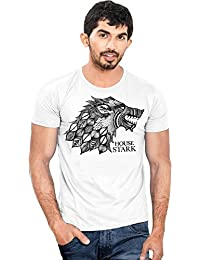 Canis House Stark Game Of Thrones | Round Neck | Classic | Men's White T-Shirt