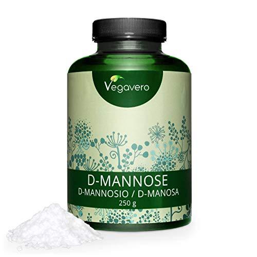 VEGAVERO® D-Mannose Pulver | 250g - 4-Monatskur | 100% Rein und Naturbelassen | Umfangreich Laborgeprüft | Unbehandelt und ohne Zusatzstoffe | Hergestellt in Deutschland | Vegan