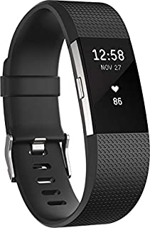 Fitbit Charge 2 Activity Tracker with Wrist Based Heart Rate Monitor - Black/Large (B01KSX374E) | Amazon Products