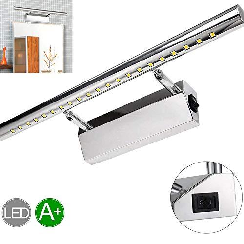GreenSun LED Lighting LED 9W 39LEDs 5050SMD 70cm Spiegelleuchte mit Schalter Spiegellampe Wandleuchte Schrankleuchte Edelstahl Badlampe Badleuchte Kühlesweiß 700LM Winkel einstellbar 180°