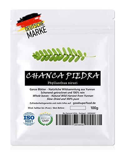 CHANCA PIEDRA (Phyllanthus niruri) - Natürliche Wildsammlung | Blattmix | TOP-Qualität vom Original | GMP + ISO-9001-zertifiziert | 100{0eddaead0cf93583e9d60c3d93fef8808836dc75b3acbdcbe5355585495e9a21} rein + frisch + laborgeprüft + schonend getrocknet | 100g