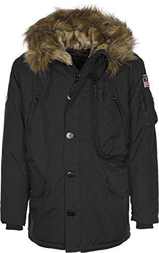Alpha Industries Herren Polar Jacket Parkas, Schwarz (Black 03), Medium Alpha Parka