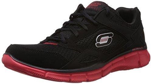 Skechers - Equalizer, Sneaker basse Uomo Black/Red