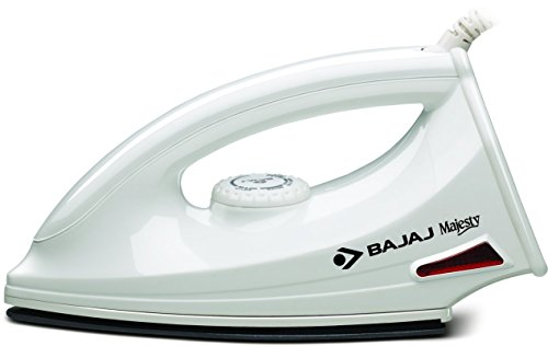 Bajaj Majesty DX 6 1000-Watt Dry Iron (White)