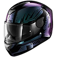Shark D-Skwal Dharkov KVX - Casco para motocicleta, talla M, color negro